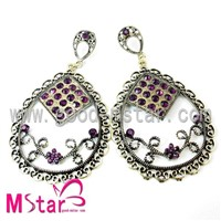 Multi color crystal style earrings