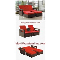 Outdoor furniture rattan / wicker lounge bed / chaise lounge BZ-C090