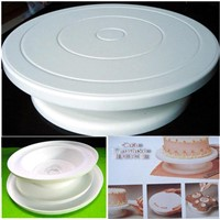 Professional Cake Decorating Turntable, Made of Plastic and PP