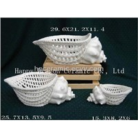 Porcelain Sea Shell Shape Bread Basket