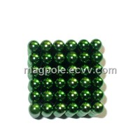Puzzle Toy Green Edition Buckyballs Neocube as Game Home Decoration Architectural Model and Display