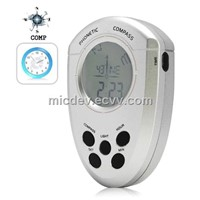 Talking Digital Compass-Digital Voice Compass with Clock, Alarm and Back Light