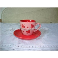 ceramic glazed cup&saucer