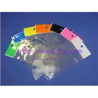 plastic bags with slfe adhesive( with header)