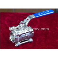 Stainless Steel 3pc Ball Valve with Lock