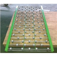 steel skate wheel conveyor module