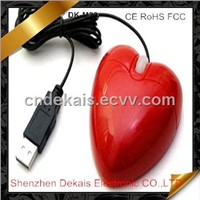 Wired Heart Shape Computer Mouse