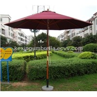 Wood Patio Umbrella