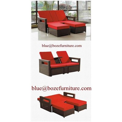 outdoor furniture rattan wicker lounge bed chaise. Black Bedroom Furniture Sets. Home Design Ideas