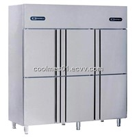 Upright commercial refrigerators / two temperatures / 6 doors