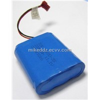 18650 Lithium Ion Battery Pack with 1800mAh 11.1V