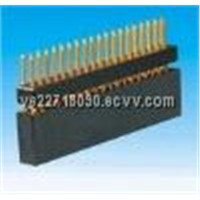 PCB - 2.54mm Female Header, Height~7.0mm, Double Row with 1 Plastic