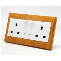 2 Gang Electric BS Switch Socket with LED