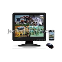 4CH / 8CH / 16CH  LCD All in one DVR , 32CH /24CH CCTV DVR NVR HVR