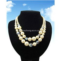 Fancy Yellow Artificial Pearl Necklace