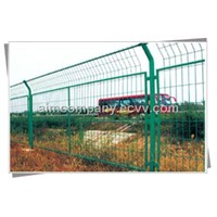 Green PVC Coated Welded Wire Mesh Fence (ISO 9001)