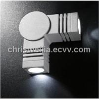 Indoor/outdoor Aluminium LED wall light