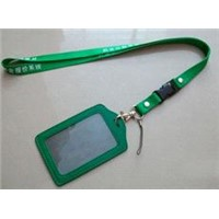 Lanyard with Leather Card Holder