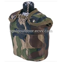 Military Aluminium Canteen with Camouflage Cover