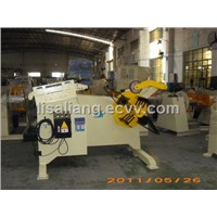 Manual Decoiler and Leveler with Pneumatic Hold Down Arm
