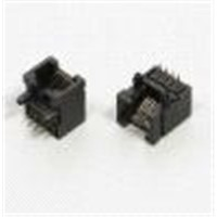 RJ45 Connector,1x1 Single Port,Right Angle,Dip
