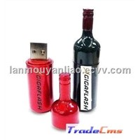 Redwine Bottle Shape Pen Drive