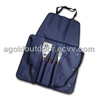 Stainless Steel BBQ Tool Set with Apron