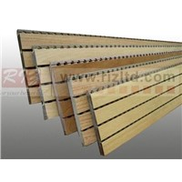 Soundproofing grooved wooden acoustic panel