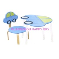 Wooden children furniture    Interesting  Car Table Chair  Promotional toys