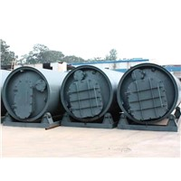continuous waste tyre pyrolysis machine
