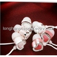 Fashionable Earphone with Swarovski Cyrstals