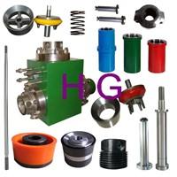 mud pump parts piston valve seats valve body liners clamps