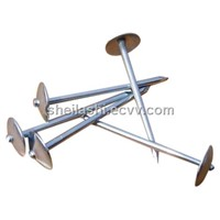 Umbrella Head Roofing Nails With Smooth Twisted Shank