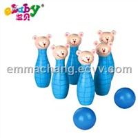 wooden bowling balls, bowling toys