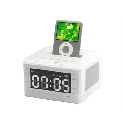 b7 ipod dock speaker system with alarm clock and fm radio china speaker. Black Bedroom Furniture Sets. Home Design Ideas