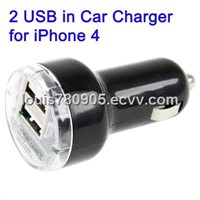 2 USB in Car Charger for iPhone 5, iPhone 4, iPhone 3GS/3G, iPod Touch (Black) $2.16