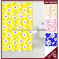 180cm*200cm weave polyester metal grommet shower curtain18002-9