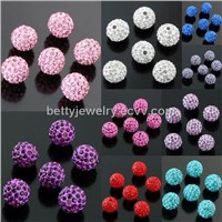 2011 fashion crystal pave beads 12mm WP001