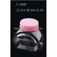 300ml Clear PET Candy Jar with Temper Proof Cap