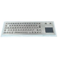 66keys industrial metal keyboard with touchpad