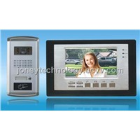 7 inch video door phone set with IC/ID card/password opening function