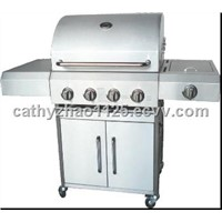 BBQ Gas Grill with Firebox