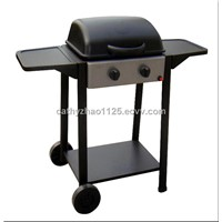 BBQ Side Table Gas Grill With Two Wheels