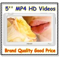 Cheap China Brand Quality 5 inch MP4 player HD videos 720P TV-OUT