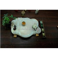 Fine China Tea Pot  jade tea tray
