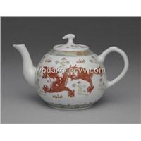 Fine China tea pot tea set art glazing