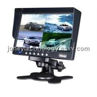 High Quality 7 Inch LCD Monitor 4 BNC/AV Built in Video Quad
