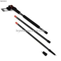 Leye genuine wood head handle three aluminum multifunctional alpenstocks walking stick