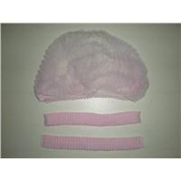 Pink Disposable Bouffant Cap-DNC100