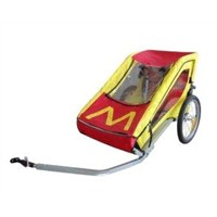 Single Child Bike Trailer with Silver Powder Coating